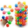 5 Pcs Children Dance Multicolor Wrist Rattles  Props Kindergarten Plastic Bracelet Kid's Toys