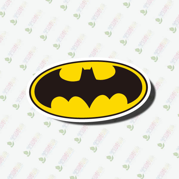 2016 new hot 3pc Batman tag reflective Wall Sticker decoration accessories for Walls, refrigerators, computers sticker and so on