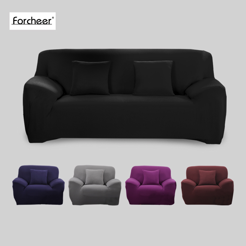 Sofa Cover Big Elasticity 100 Polyester Spandex Stretch Couch Cover Loveseat Sofa Towel Furniture Cover Machine