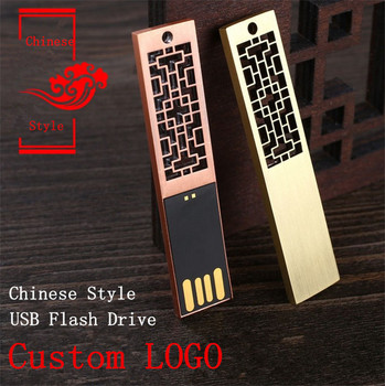 Chinese style Restoring ancient ways usb flash drive Gift pen drive 4GB 8GB 16GB 32GB 64GB thumb drive pen driver Custom LOGO