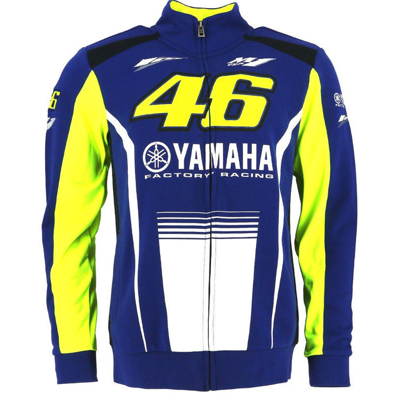 2017 MotoGP Valentino Rossi VR46 for Yamaha Racing Blue FELPA Zip up Sweater