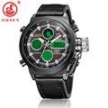 OHSEN Men Sport Watches Leather Watch Waterproof Digital Alarm Stopwatch Multifunction Wristwatch AS17