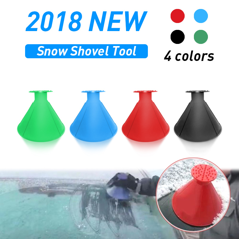 1* Practical Car Windshield Ice Scraper Cone-Shaped Auto Window Ice Snow Cleaner
