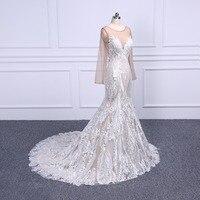 2019 Vintage Lace Mermaid Wedding Dress Turkey Vestido de Novia Lace Sheer Bridal Gowns Robe mariee Sexy Wedding Dresses