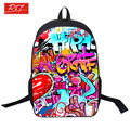 Young Men Travel Bag Women Graffiti Printing Backpack For Teenagers Boys School Bags Girls Daily Backpacks Mochila Escolar