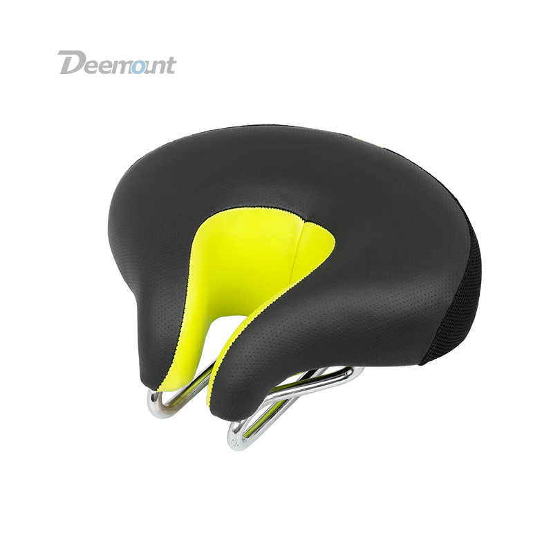 Deemount Bicycle Saddle Perforated Seat Physical Pressure Reduction Bike Cushion Ventilation Durable Breathable Cycle Accessory