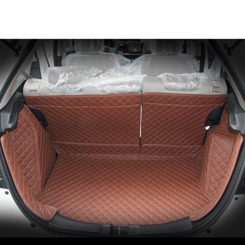 Lsrtw2017 custom fit in fibra di pelle bagagliaio di un'auto stuoia cargo mat per honda fit gk5 2014 2015 2016 2017 2018 2019 5d cargo liner