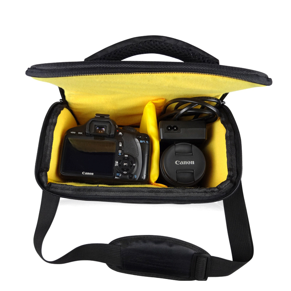 DSLR Camera Bag Waterproof Shoulder Case For Nikon D5300 D3400 P900 B700 D7200 D3300 D7500 D5200 D5600 D90 D810 D3200 D7100 D800 multifunction dslr camera backpack bag case for nikon d7200 d7100 d5300 d3400 d90 sony a7 ii iii canon 1300d 750d 200d lens bag