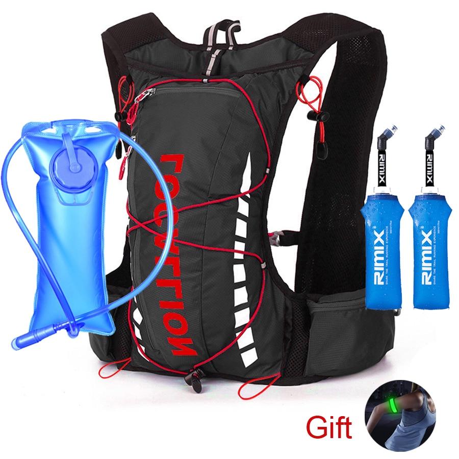 NEWBOLER 8L Women Men Marathon Hydration Vest Pack For 2L Water Bag Cycling Hiking Bag Outdoor Sport Trail Running Backpack