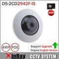 Origem Inglês Versão HIK 4MP Fisheye Câmera IP POE DS-2CD2942F-IS Construído no Microfone e Áudio 3D DNR Auto IR Câmera PTZ Wi-fi