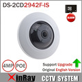 Origin English Version HIK Fisheye 4MP POE IP Camera DS-2CD2942F-IS Built In Mic and Audio 3D DNR Auto IR Wifi PTZ Camera
