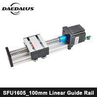 100mm Linear Rail Cnc Router Ballscrew SFU1605_100mm Linear Guide Rail For Engraving X Y Z Axies