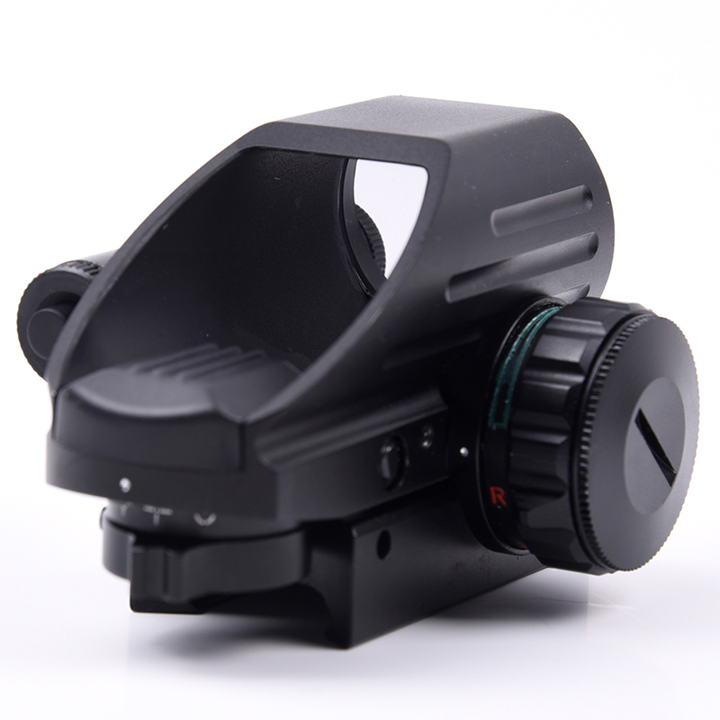 Hunting Military Gear Tactical Holographic Reflex Green &Red Sight Combo W/Pressure Switch Laser Sight Scope 1mw