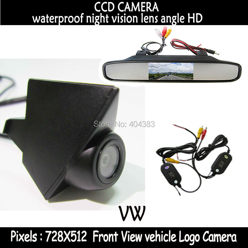 wireless CCD Night Vision Car front View Camera with Monitor for volkswagen VW GOLF Bora Jetta Touareg Passat Lavida Polo Tiguan стоимость