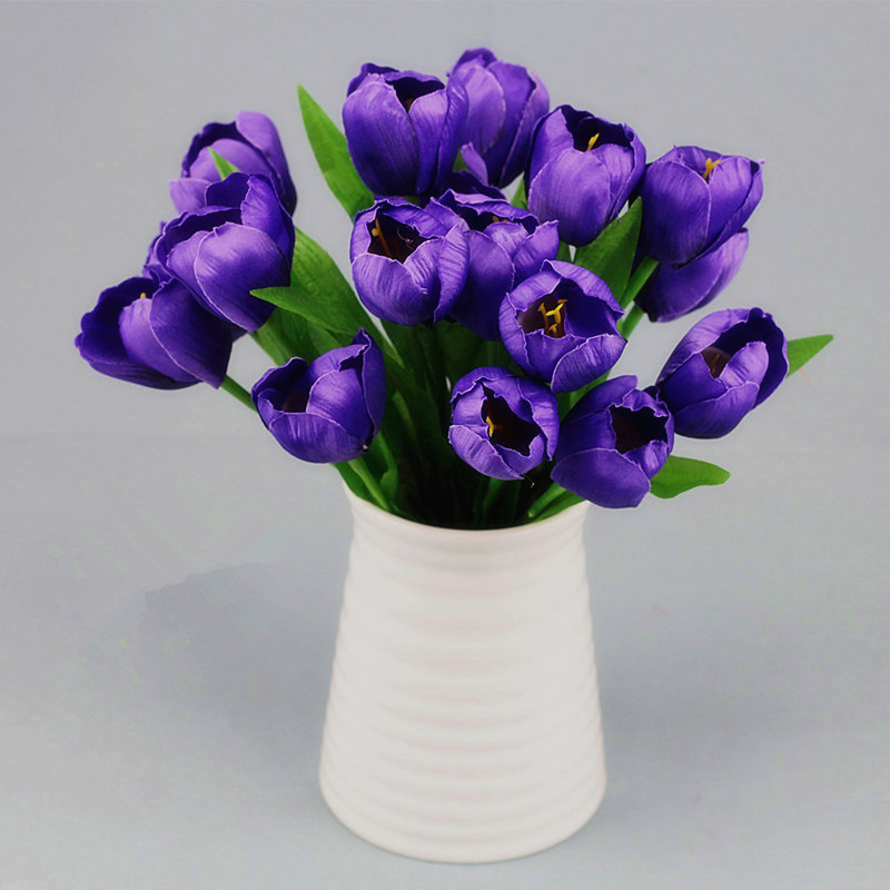 1 Bouquet 9 Heads Fake Tulip Artificial Silk Flower Home Wedding Decorative Flowers \u0026 Wreathsin