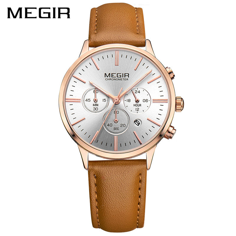 ab44d757437 MEGIR Relógio de Senhoras Amantes Do Esporte Da Forma de Luxo Mulheres de Quartzo  Relógios de Marca Relógio de Pulso Relogio feminino para o Sexo Feminino ...