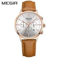 MEGIR Top Brand Luxury Women Watches Fashion Quartz Ladies Watch Sport Relogio Feminino Clock Wristwatch For