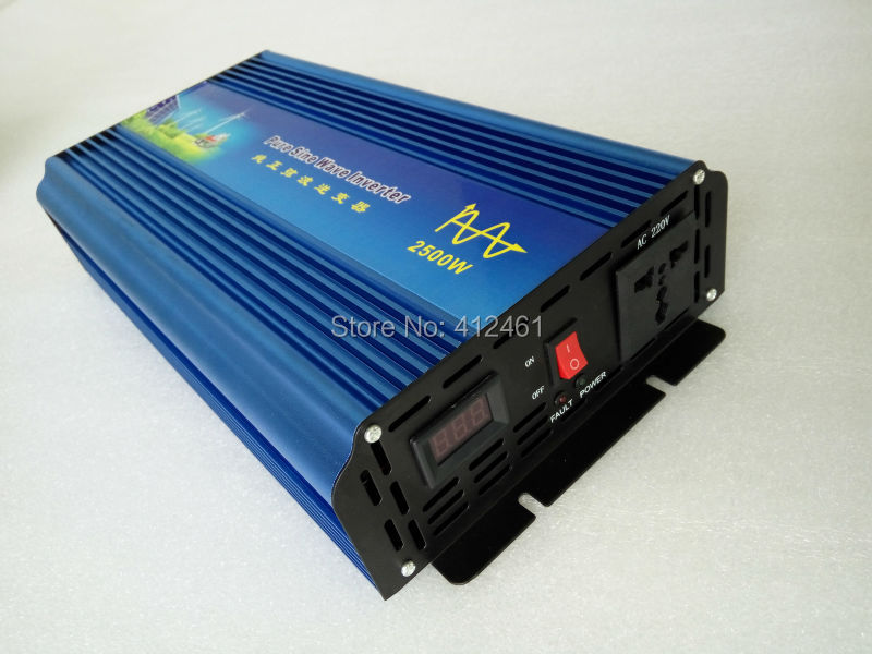 Fedex DHL UPS Free Shipping, Volt Display AC Inverter Solar Inverter 2500Watt / 2500W 12/24/48VDC to 110/220VAC 5000W Peak dhl fedex free shipping home ups inverter 3000w peak 6000w dc12v to ac220v inverter 20amp charger
