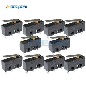 10Pcs Tact Switch KW11-3Z Microswitch 5A 250V 3 PIN 3P 3PIN Buckle