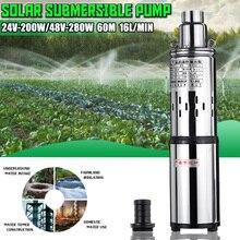 Solar Water Pump 24V/48V 200W/280W 16L/Min 60m Deep Well Sub