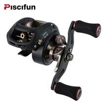 Piscifun SAEX ELITE — сверхлегкая мультипликаторная рыболовная катушка, есть варианты с ручкой под правую или левую руку. Подшипников — 13, передаточное отношение — 7.3:1, вес — 167 г
