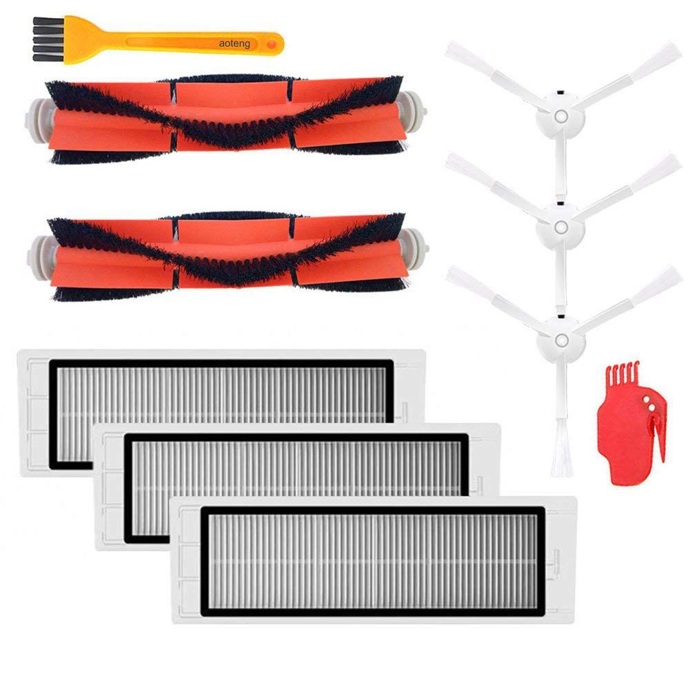 Best Sell Accessories Kit for XIAOMI MI Robot Vacuum Replacement Parts 3 Pcs Side Brush 3 Pcs HEPA Filter 2 Pcs Main Brush цена