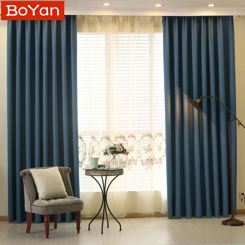 Latest Soild Deep Navy Blackout Curtain Room Darkening Grommet Hooks Top Pull Pleat Tap Window For Men Bedding In Curtains From Home