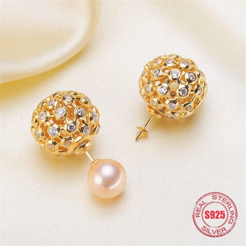 Boucles d'oreilles en argent Sterling S925 véritable boucles d'oreilles pendantes boucles d'oreilles cerceau fournitures de Base vierges pour accessoires de bricolage fabrication de bijoux