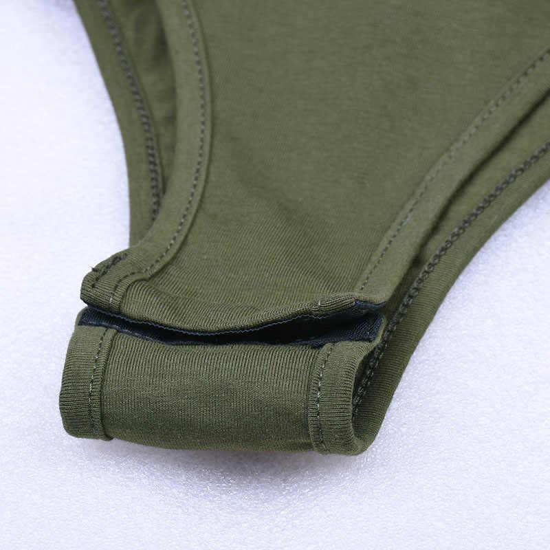 Sweetown осень Army green с длинным рукавом боди осень-зима 2019 элегантный Женское боди сексуальные выдалбливают облегающие костюмы