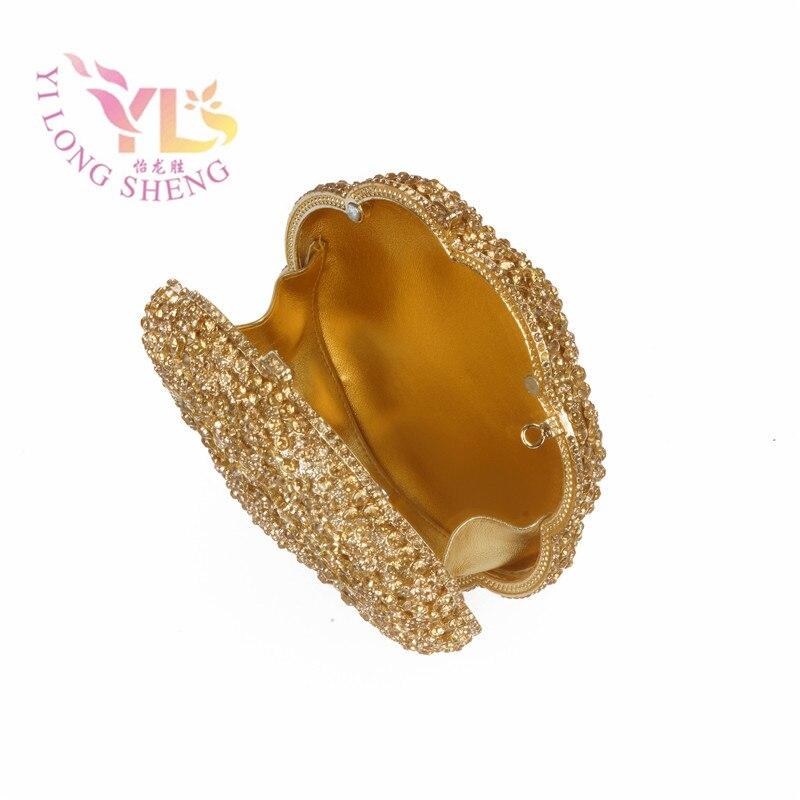 Zlatni cvijet Kristalna večernja spojka ručna torba za posebnu - Torbe - Foto 5