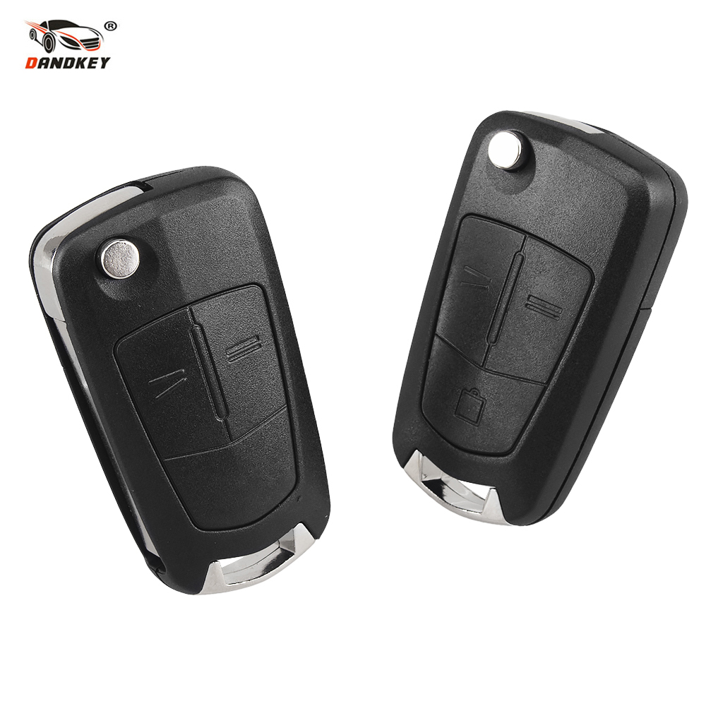 DANDKEY 2/3 Buttons Flip Remote Folding Car Key Cover Fob Case Shell Case For Vauxhall Opel Corsa Astra Vectra Signum