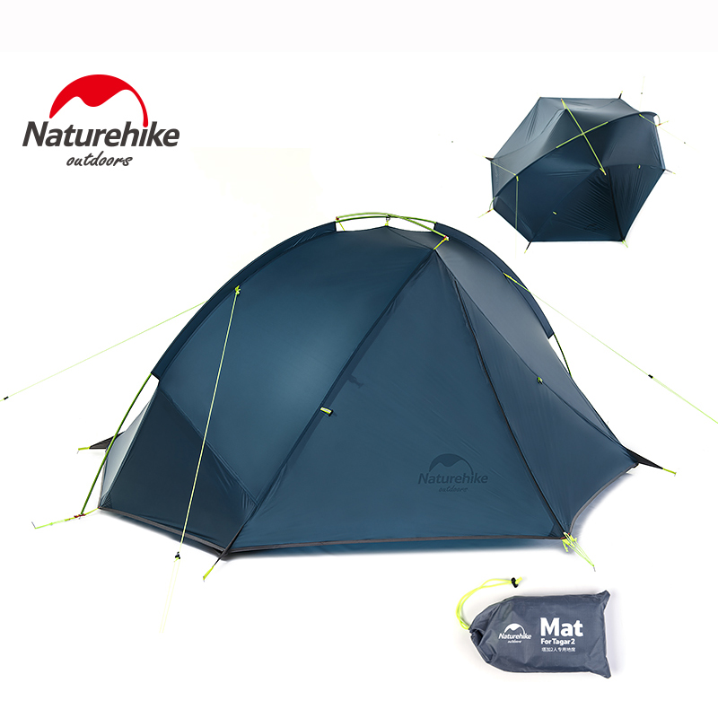 Naturehike Ultralight 1 Person Tents Outdoor Camping Equipment Hiking Tourism 2 Person Tent Waterproof With Free Mat NH17T140-J