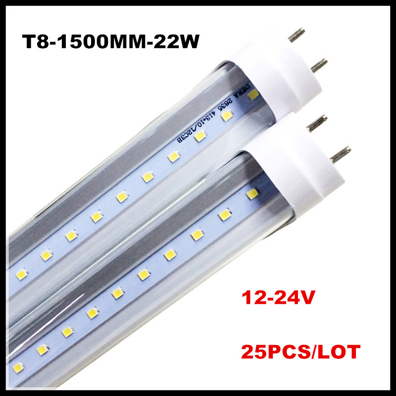 12V 24V LED Tube Lights 18W 22W 5ft 5 Feet T8 G13 LED ...