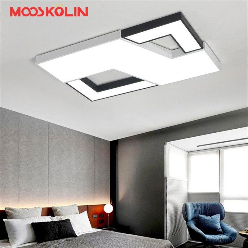 Plafond moderne à leds Lumière Pour Salon Chambre Rectangle luminaire éclairage intérieur à led plafonnier Luminaires Par Sala