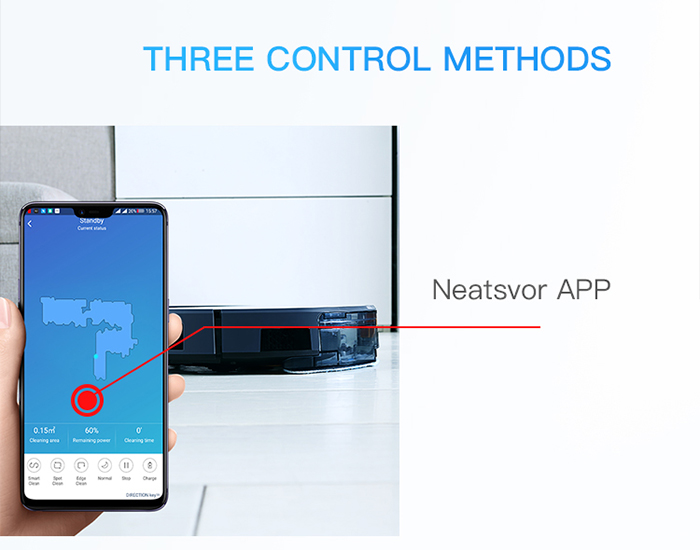NEATSVOR X500 1800PA Robot Vacuum Cleaner for Wet or Dry Mopping with Map Navigation and Anti Collision Feature 23