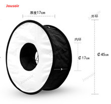 45cm Folding ring softbox Eye Light general machine top Flash macro soft hood folding Portable CD50 T03(China)