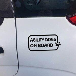 YJZT 14,2 см * 7 см ловкость собак на борту автомобиля стикер наклейка лапа печать черный/серебристый C10-00805
