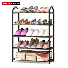 マジックユニオン金属鉄靴棚シンプルなスタイルマルチ 層の学生寮の靴収納ラック diy 靴キャビネットホーム sapateira