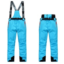 Double Guard Waist Winter Mens Ski Pants Thermal Waterproof Women Snow Ski Trousers Lovers Board Pants Skiing Clothes Men
