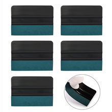 EHDIS 5pcs Car Wrapping Squeegee Carbon Film Vinyl Wrap Suede Felt Scraper Window Tint Cleaning Car Stickers Styling Accessories carcardo 40cm x 200cm car headlight taillight tint vinyl film sticker car smoke fog light viny stickers decals car styling
