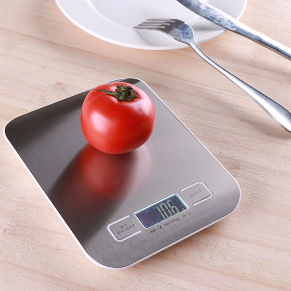 Digital scale 2017 5Kg x 1g Food Diet Postal Kitchen Scales balance Measuring weight Slim LED Electronic Household Scales
