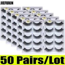 50 đôi 3D Chồn Hàng Mi Sỉ 10 hộp 3D chồn lông mi tự nhiên dài lông mi giả mắt hàng mi nối dài cilios g806 g800