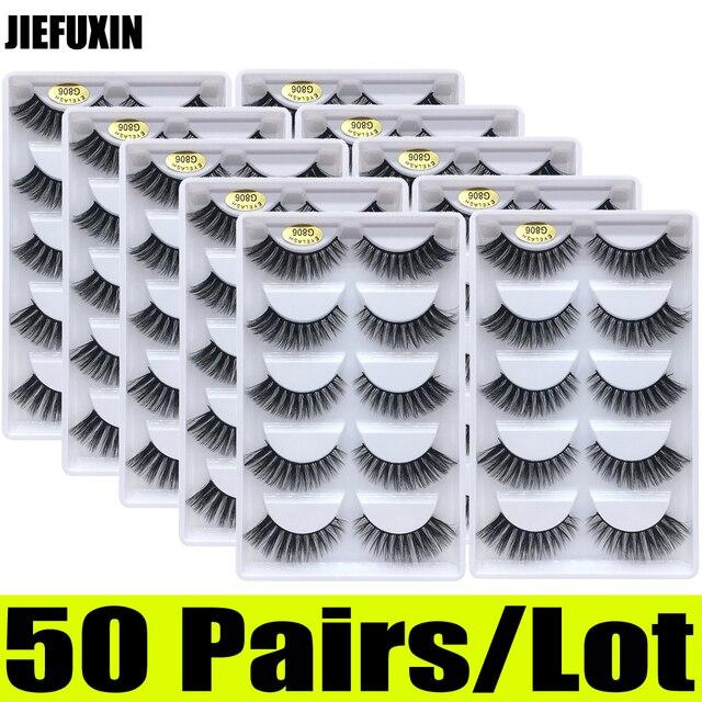 Pestañas de visón 3d, 50 pares, venta al por mayor, 10 cajas, pestañas de visón 3d, pestañas postizas largas naturales, extensión de ojos cilios g806 g800
