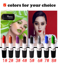 8 colors cosplay gothic Vampire Style waterproof lipstick long lasting Makeup matte black lipstick 3.5g lip stick JZ085