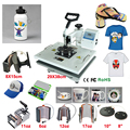 New Design 8 In 1 110V-240V Heat Transfer/Sublimation Machine Combo Heat Press Machine,for Cap Mug Plate T-shirts Printing