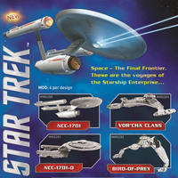 3D Metal Model Laser Cutting Nano Puzzles 4 Style 6 Inch Etched Plate Star Trek Series