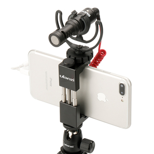 Image 4 - Ulanzi ST 02 Mobile Phone Tripod Mount w Hot Shoe Compatible Aputure AL M9/Boya BY MM1 Microphone for Youtube Vlog Video Maker