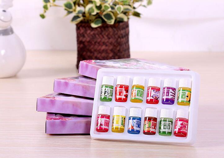 12 Bottle 3ml Pure Essential Oils Set Fragrance Air Care Watersoluble Essential Oils For Aromatherapy  Lemongrass  Oil Diffuser