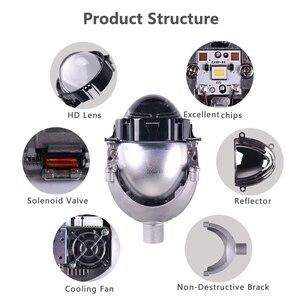 Image 2 - Sanvi 3 סנטימטרים אוטומטי Bi LED מקרן עדשת פנס 35W 5000K LED אוטומטי פנס אופנוע פנס