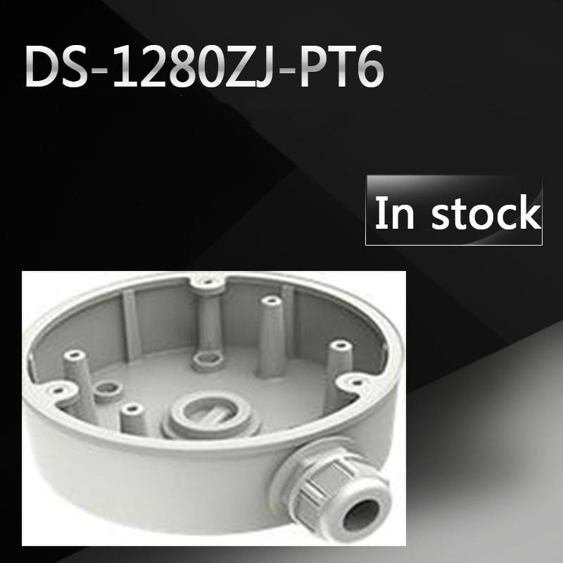 DS-1280ZJ-PT6 Junction Box for DS-2DE3304W-DE in stock original hikvision cctv bracket junction box ds 1280zj dm18 indoor celling mount for ds 2cd21series and ds 2cd31series